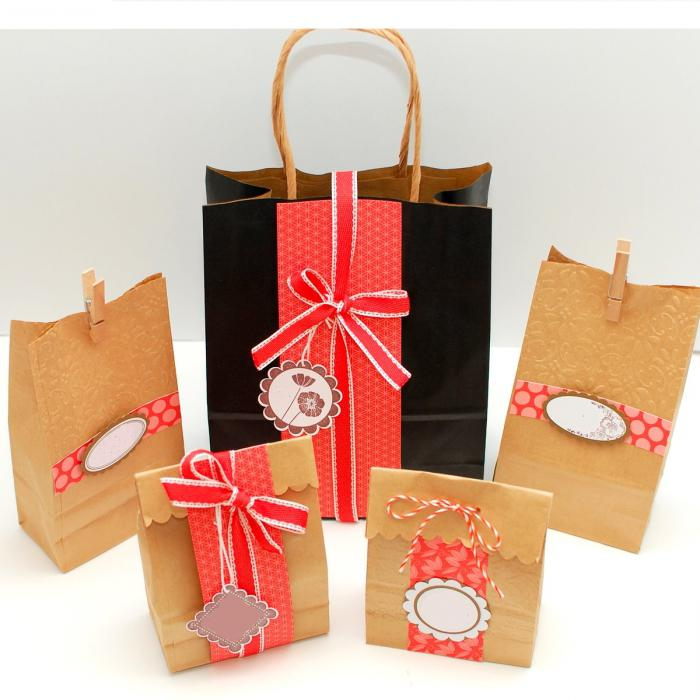 подарочные пакеты своими руками фото