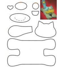 подушка игрушка кот выкройка