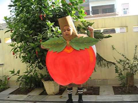 костюм яблока своими руками из бумаги