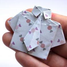 оригами открытка рубашка