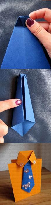 открытка рубашка своими руками пошаговая инструкция