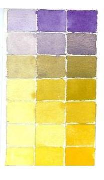 смешивание акварельных красок таблица