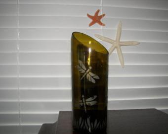 как сделать вазу из стеклянной бутылки своими руками