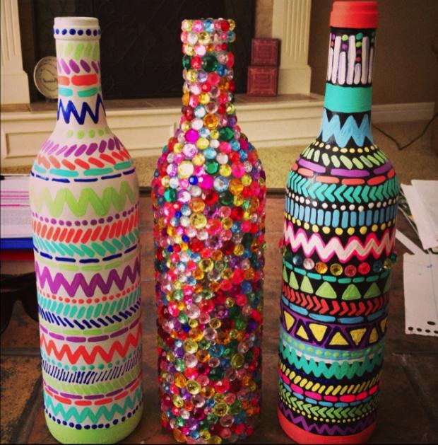 Цветной песок в бутылке своими руками 333