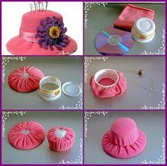 Как сделать шляпку заколку своими руками