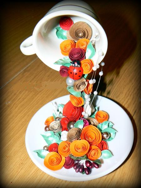 чашка с цветами своими руками мастер класс