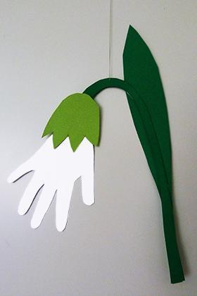 подснежники из бумаги своими руками аппликация