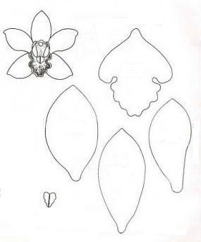 орхидея из фоамирана мастер класс с пошаговым фото