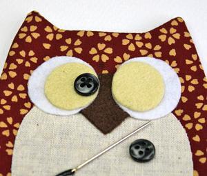 как сшить подушку сову