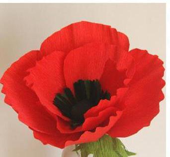 сделать цветок мака из ткани своими руками