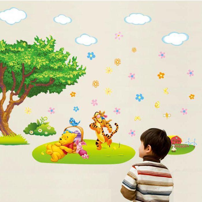 рисунки на стене в детском саду фото