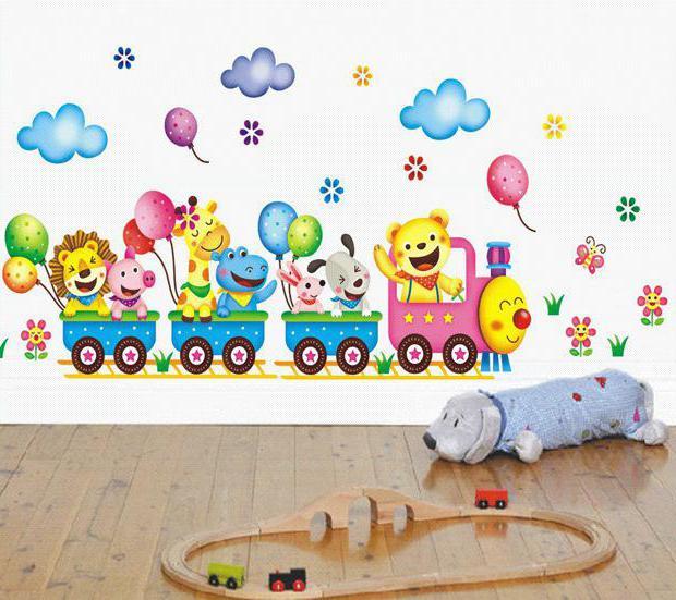 рисунки на стене в детском саду