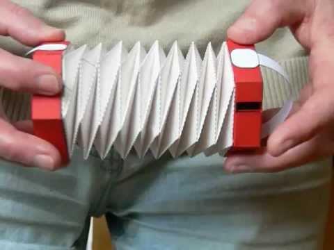 как сделать гармошку из бумаги