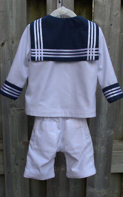 костюм для мальчика моряк мастер класс