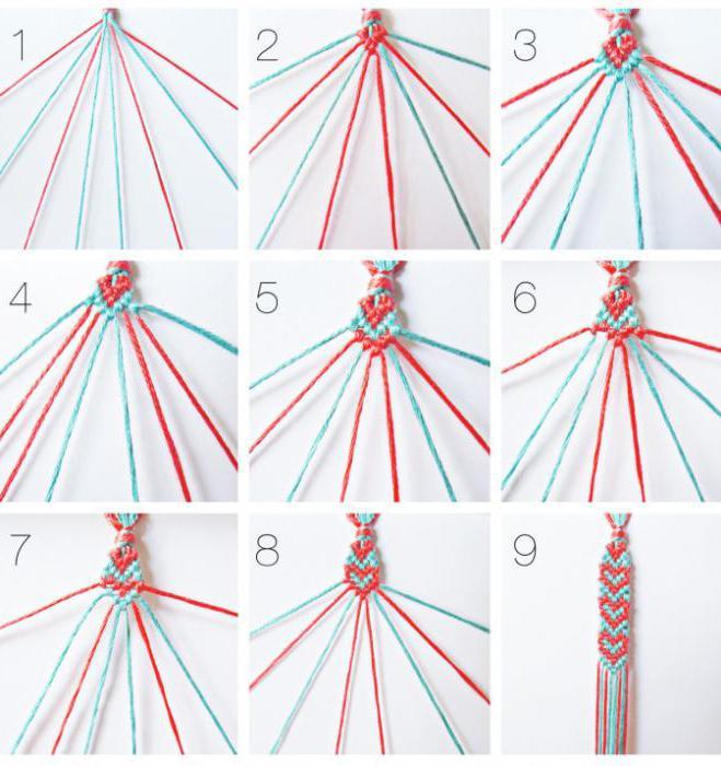 простые браслеты из ниток