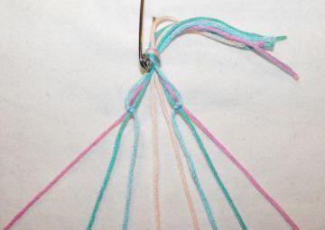 как сделать браслет из ниток своими руками