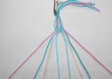 как плести браслет из ниток для начинающих