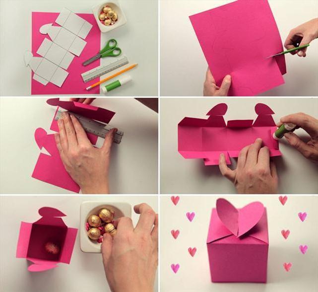 коробочка из картона своими руками схемы