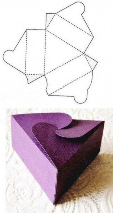 коробочка из картона своими руками схемы простые