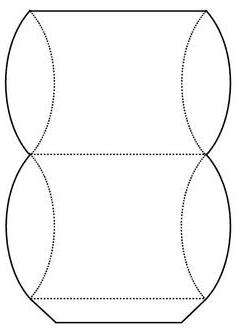 круглая коробочка из картона своими руками схема