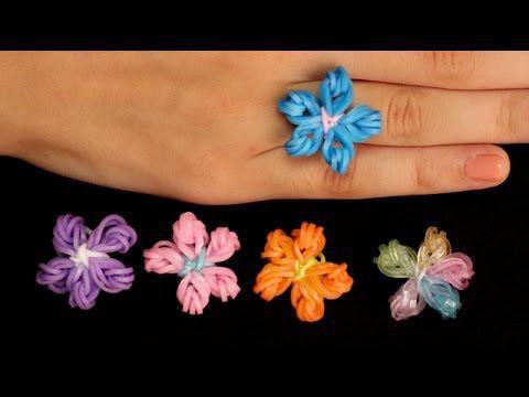 Кольцо из резинок Цветочек на рогатке Фото и видео уроки