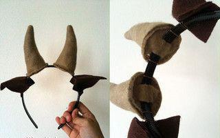 как сделать рога козы своими руками из ткани
