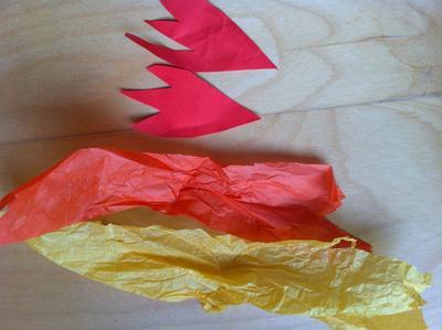 вечный огонь из бумаги своими руками для детей