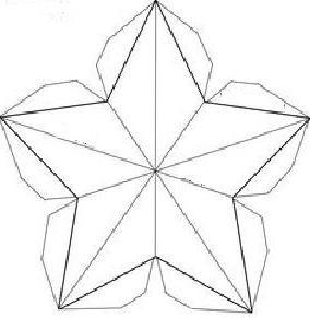 Объемная звезда из бумаги на 9 мая схемы шаблоны