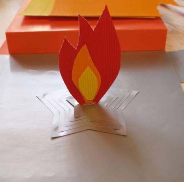 Вечный огонь своими руками шаблоны