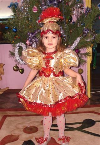 Как сшить новогодний костюм для девочки