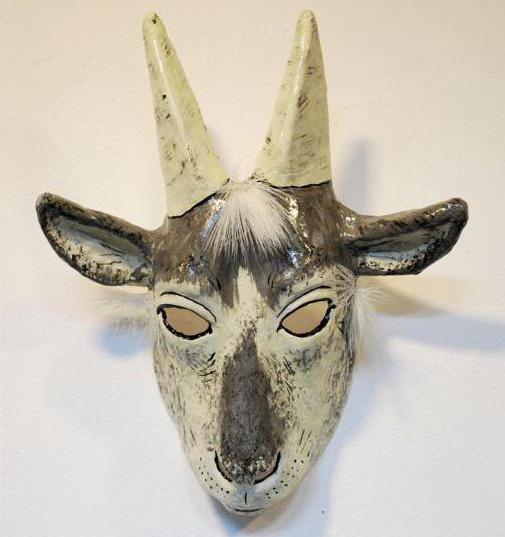 Маска коза из бумаги