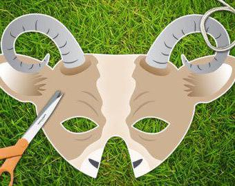 Как сделать из бумаги маску козочки