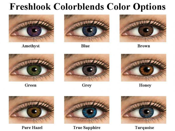 линзы цветные freshlook color blends оптика