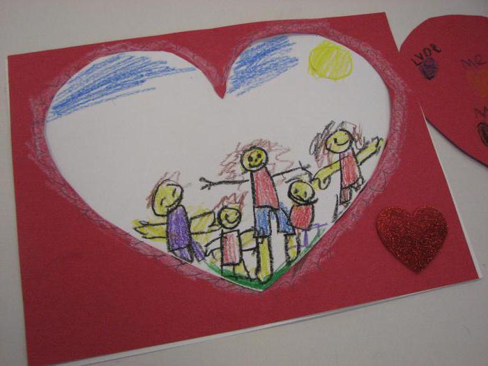 рисование в детском саду моя семья