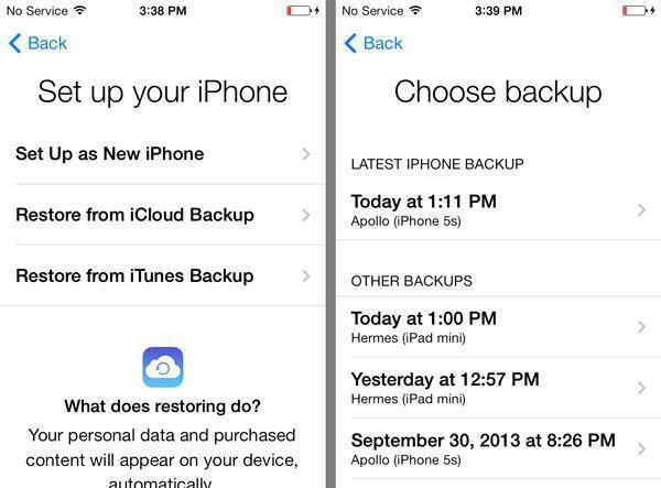 Как восстановить резервную копию на iphone