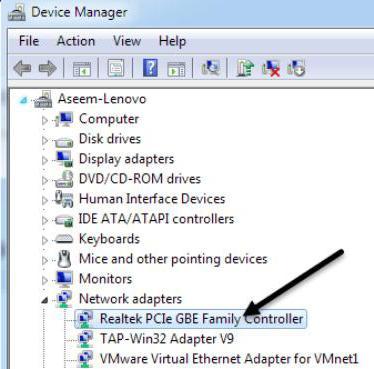 Не видит кабель интернета windows 7. Устранение причин отсутствия сетевого кабеля в ОС Windows