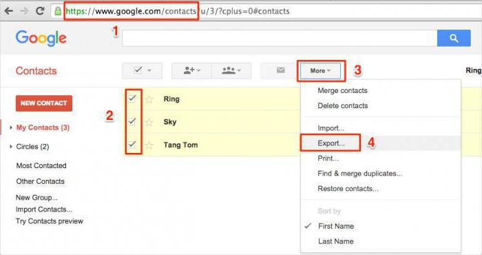 как синхронизировать контакты с gmail на iphone 6