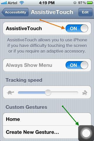 как убрать кнопку домой с экрана айфона 5