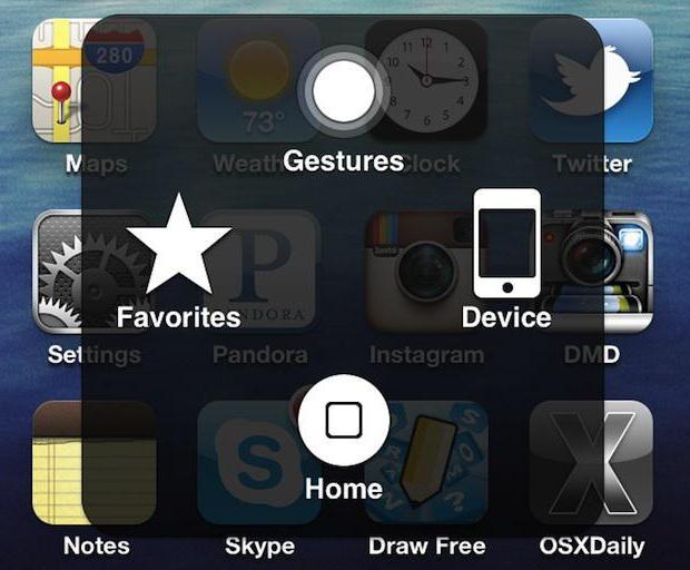 как убрать кнопку домой с экрана айфона 4