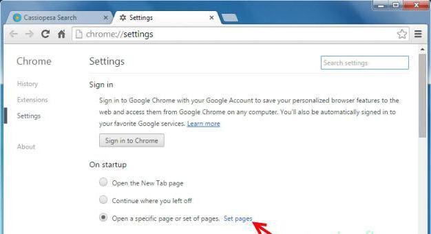 В браузере открывается страница с рекламой