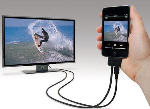 как iphone подключить к телевизору