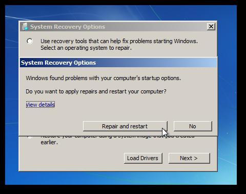 Восстановление загрузчика Windows 7 вручную