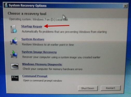 восстановление загрузчика windows 7 что делать