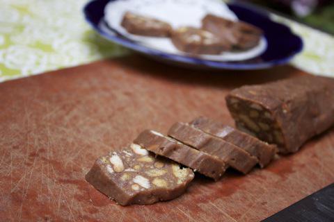 кондитерская колбаса из печенья