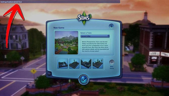 Как водить коды в sims