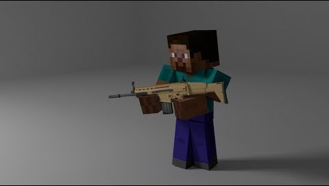 пулемет в майнкрафт