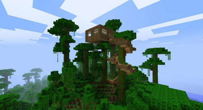 как сделать дом на дереве в minecraft