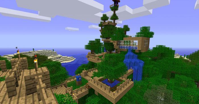 как сделать в майнкрафт дом на дереве