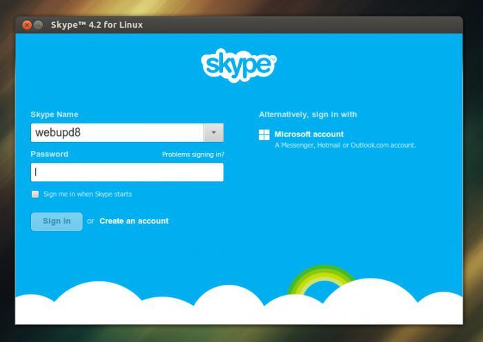 невозможен вход в скайп