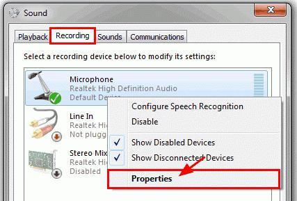 как настроить микрофон на веб камере на windows 7